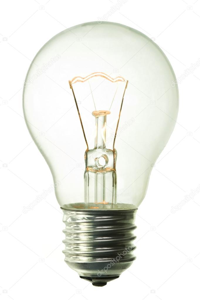 foto lampadina : Scarica - Lampadina ad incandescenza accesa, isolato su sfondo bianco ...