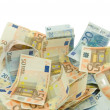 Ten twenty and fifty euros bills — Stock Photo