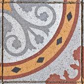 Wzór na starożytnych kwadrat płytek — Zdjęcie stockowe