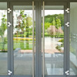 Glass door — Stockfoto
