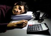 Doing taxes — Stock Photo