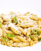Penne al pesto — Stock Photo