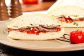 Beef sandwich — Stock Photo