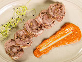 Pork roulade — Stock Photo