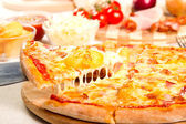 Pizza with potatoes — Stock Photo