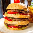 Stock Photo: Huge hamburger