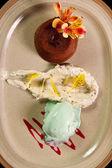 Molten lava cake — Stock Photo