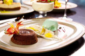 Geschmolzene lava-kuchen — Stockfoto