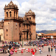 Festival activities at La Plaza de Armas in Cusco Peru  — Stock Photo