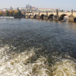 Stock Photo: River in Prague, Czech Republic