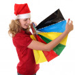 Girl with christmas shopping bags — Stock Photo #25586407