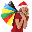 Girl with christmas shopping bags — Stock Photo #25587203