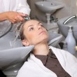 Washing hair in salon — Stock Photo #25712555