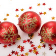 Stock Photo: Christmas tree decorations stars