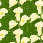 Vector seamless pattern with calla — Stockvektor