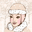 Winter girl — Image vectorielle