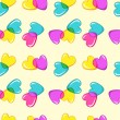Seamless vector pattern with hearts  — Stockvectorbeeld