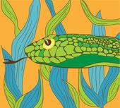 Green snake — Wektor stockowy