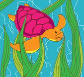 Tortugas marinas — Vector de stock