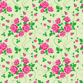 Vector seamless pattern with rose — Stock Vector