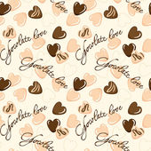 Seamless vector pattern with chocolate hearts — Stock Vector