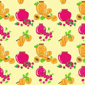 Vector seamless pattern with berry jam — Stock Vector