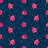 マグノリアのシームレスなパターン ベクトル — ストック写真