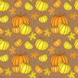 Vector seamless pattern with pumpkins — ストックベクタ