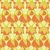 Vector floral seamless pattern — ストックベクタ