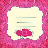 Vector fondo con rosas — Vector de stock