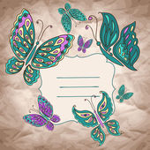 векторный фон с бабочкой — Cтоковый вектор