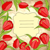 Vector background with tulips — Vecteur