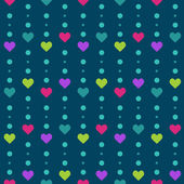Valentine vector seamless pattern with hearts — Stock Vector