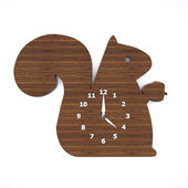 Squirrel clock — Stock Photo