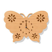 Butterfly clock — Stock Photo