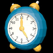 Cartoon clock low poly style — Stockfoto