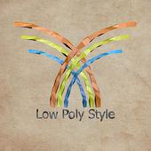Logo low poly style — Foto Stock