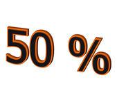50 percent — Stock Photo