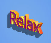 Relax word — Stock Photo