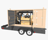 Trailer generator — Stock Photo