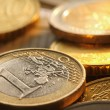 Euros coins detail — Stock Photo