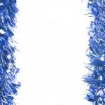 guirlanda ouropel de Natal azul — Foto Stock