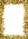 Gold Christmas tinsel garland — Stock Photo