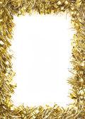 Gold Christmas tinsel garland — Stock Photo
