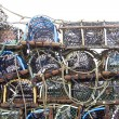 Crab or lobster pots on quayside — Stock Photo