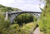 The Iron Bridge over the River Severn — Stock Photo