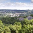 Stock Photo: Elevated view of Matlock, Derbyshire from Heights of Abraham