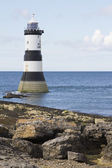 Lighthouse at Penmon Point, Anglesey, North Wales — Stock Photo