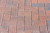 Red block pavior driveway — Stock Photo