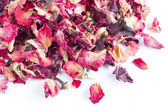 Dried rose petal pot-pourri — 图库照片